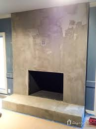 you can create a contemporary fireplace with concrete for less than 100 this full diy