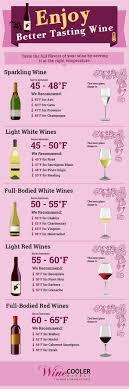 Wine Serving Storage Temperatures Infographic