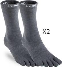 Injinji Liner Socks Size Chart Injinji Nuwool Liner Toesocks Twin Pack Inj Mlin Twin