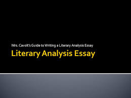 literary analysis essay ppt  literary analysis essay