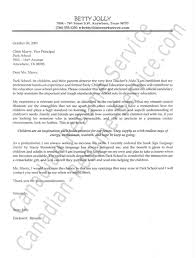Early Childhood Education Cover Letter Cover Letter Examples For