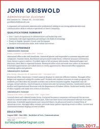 Resume Examples 2017 Administrative Assistant Asptur Executive ...
