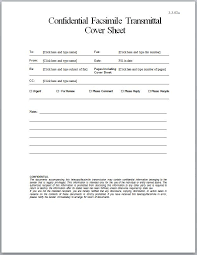 Confidential Fax Cover Sheet 2016 Theracare