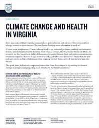 NRDC Issue Brief: Climate Change and Health in Virginia
