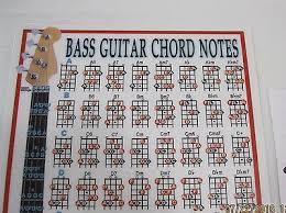 Bass Guitar Chart Bass Guitar Chord Chart Walrus Production Laminated 8 1 2 X