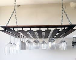 Fine Furniture: Custom Hanging Wine Glass Rack / Stemware Rack