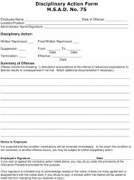 022 Template Ideas Employee Write Up Form Unforgettable