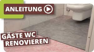 Wc Renovierung Mit Klick Vinyl Youtube