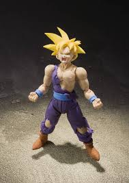 tamashii nations s h figuarts super saiyan son gohan dragon ball z action figure the design is based upon the standoff with cell and the set includes