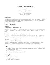 Cashier Resume Examples Delectable Sample Of Resume For Cashier Resume Tutorial Pro