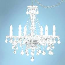 spectrum chandeliers awesome full spectrum clear glass and acrylic plug in swag chandelier pretty pink style