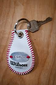 baseball keychain by sportzcrazymama on etsy 18 00 great for coaches or senior player gifts can also be used as a bag for your favorite player