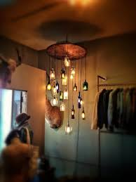 liquor bottle chandelier