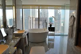 grand suite bath tub overlooking the petronas towers at the grand hyatt in kuala lumpur