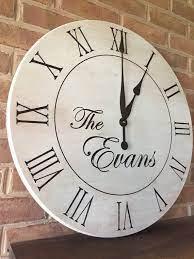 farmhouse wall clock 24 wood clock