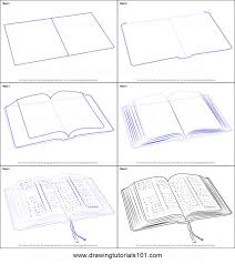 how to draw an open book printable step by step drawing sheet drawingtutorials101 drawing guidance open book drawings and books