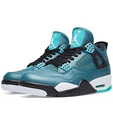 jordan 4 retro. jordan air 4 retro 30th mens shoes teal/white-black-retro 705331-