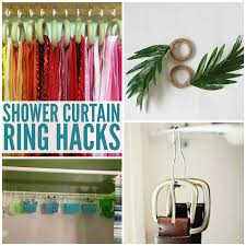 ways to use shower curtain rings