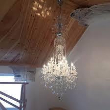 nice foyer crystal chandeliers