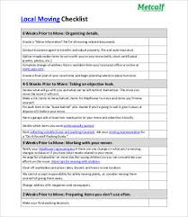 10 Moving Checklist Templates Word Pdf Apple Pages