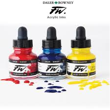 Daler-Rowney FW Acrylic <b>Water</b>-<b>Resistant</b> Artists Inks - Jerry's ...