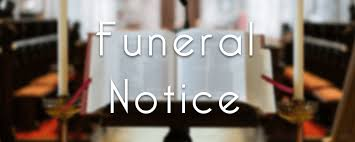 Funeral Notices – Saturday 20th October – What's On Invers
