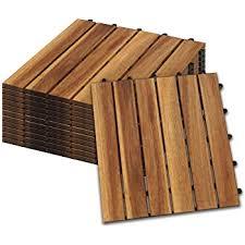 Ein holzboden bringt warme atmosphäre ins haus. Deuba 33x Holzfliesen Akazie Fsc Zertifiziertes Akazienholz 3m Fliese 30x30 Cm Stecksystem Mosaik Zuschneidbar Terrasse Balkon Amazon De Baumarkt