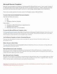 Online Resume Free Download Elegant Modern Resume Template Free Word