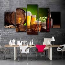 dining room canvas art. 5 Panels Beer Canvas Art Dining Room