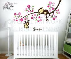jungle theme wall decals for nursery also zoom monkey wall decals for nursery canada nzb
