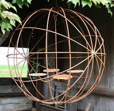 24 wrought iron eclipse chandelier outdoor wax candles