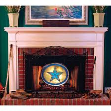 licensed style fireplace screen dallas cowboys