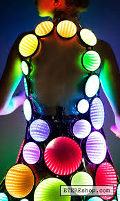 Light Solutions Etere Infinity Led Vest Light Up Screen Clothing Glow Stage Rock