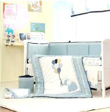 baby girl elephant crib bedding sets 8 pcs high end blue embroidery elephant baby crib bedding
