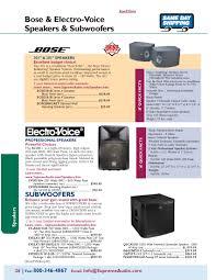 bose 4001. bose \u0026 electro-voice speakers subwoofers 4001
