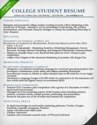 college student resume sample sample of a college resume
