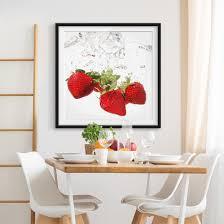 Bild Mit Rahmen Strawberry Water Quadrat 11 Poster