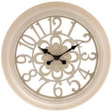 antique white flower wall clock hobby