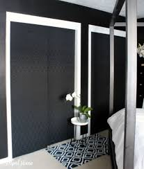 Fabric Covered Closet Doors in a master bedroom, part of the fall 2015 One  Room