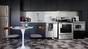 Small Condo Kitchen Makeover A Small Condo Kitchen With Black Cabinets Diyfyi
