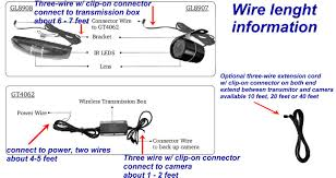 wireless car backup camera color monitor rv truck trailer rear click picture for detail wire length information