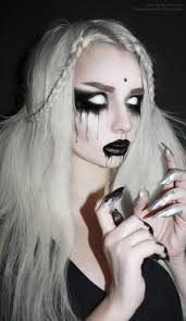 ghost make up get the white out contacts easier to get the ones where you still see your p but still very creepy