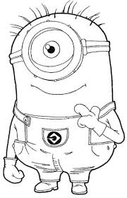 One Eye Minion Despicable Me Coloring
