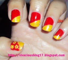 Red And Yellow Nail Designs Nail Art Yellow And Red