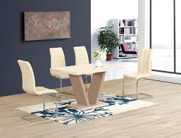 furniture four chair dining table round extendable dining table cream kitchen table set black dining room