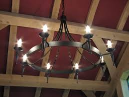 hand forged wrought iron prinsted faceted point and ball 8 light chandelier