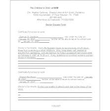 Free Dr Excuse Template