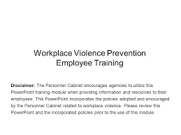 Employee Training Powerpoint Workplace Violence Prevention Employee Training Ppt Video Online