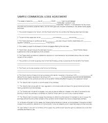 Commercial Lease Sample 6 Sample Commercial Lease Agreements Sample ...