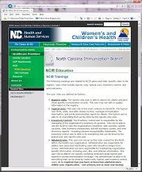 Vii. North Carolina Immunization Registry (Ncir)